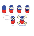 Funny Pill vector image