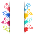 Hand-drawn Smiling Colorful Girls and Boys vector image