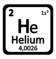 Periodic table element helium icon vector image