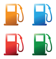 petrol pumps vector image