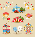Set of country fair objects vector image