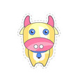 sweet funny cow colorful cloth patch applique for vector image