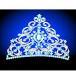 tiara crown womens wedding vector image