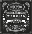 Wedding Invitation Elements vector image