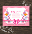 Sweet baby shower invitation vector image