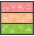 Spa and recreation banners with icons in linear vector image