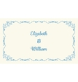 Wedding invitation card vector image vector image