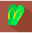 long shadow flat icon of flip vector image