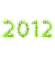 vector illustration of green 2012 year ecology con vector image