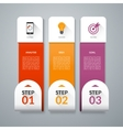 Infographic template with set of marketing icons vector image