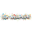 Happy birthday paper banner vector image