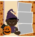 Blank template for Halloween photo frame vector image vector image