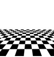 black and white checker 3d rendered image vector image
