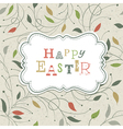 happy easter retro cute greeting vector image