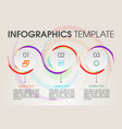 modern infographics options template with circle vector image