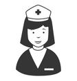 Nurse profile cap icon vector image