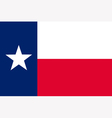 Texan state flag vector image
