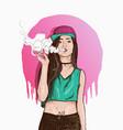 Vape swag girl vector image