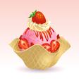 Ice cream Strawberry vector image