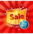 Sale banner Advertising flyer for commerce vector image