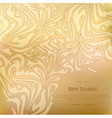 golden vintage background with abstract pattern vector image vector image