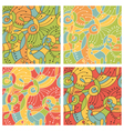 Colored patterns vector image vector image