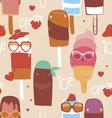 Ice cream fashion seamless print vector image