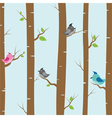 birds and trees vector image