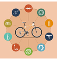 bike infographic 2 vector image
