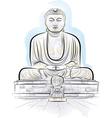 drawing giant buddha vector image vector image