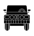 car jeep front view icon vector image