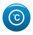 celsius icon blue vector image