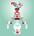 Creative brain Idea and light bulb concept vector image