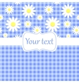 Cute blue card invitation with chamomile vector image