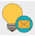 idea envelope message icon vector image