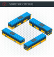 isometric city bus vector image