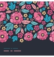 Night Kimono Blossom Horizontal Border Seamless vector image