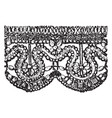 old point lace border is a form of textile art vector image