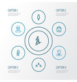 person outline icons set collection of team vector image