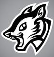 Squirrel head black shield logo vector image