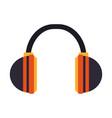 two tone headphones icon image vector image