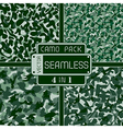 War green forest camouflage pack 4 in 1 seamless v vector image