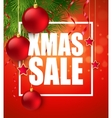 Xmas sale poster with cristmas decoration vector image