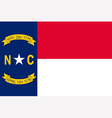 North Carolinian state flag vector image