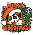 Christmas dog vector image