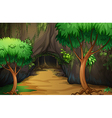 A cave at the forest vector image vector image