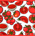 seamless pattern backdrop design of with ripe red vector image