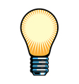 A view of light bulb vector image vector image