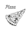 pizza slice isolated vector image