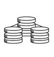 line database technology system information vector image